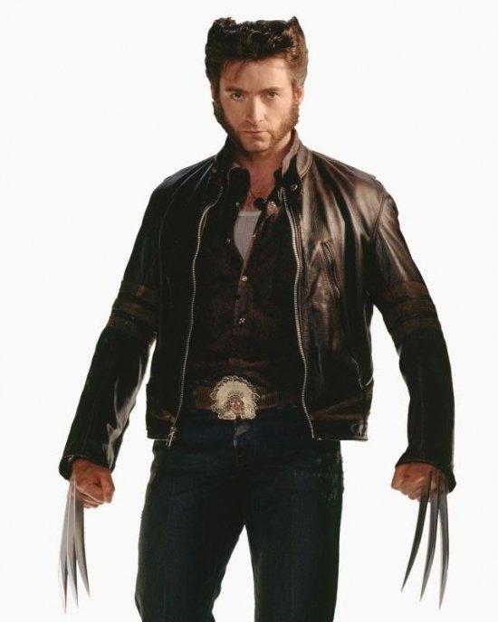Logan X-Men Wolverine - Men's Motorbike Leather Jacket