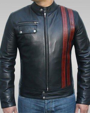 Thunderbolt - Men's Motorbike Leather Jacket