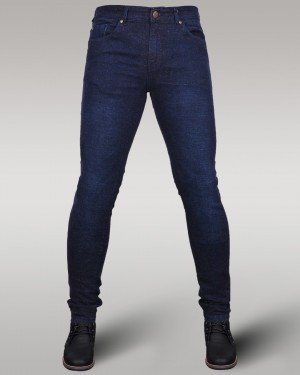 Immense - Men's Super Skinny Stretch Jeans (Dark Blue)