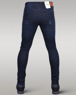 Immense - Men's Super Skinny Ripped Jeans (Dark Blue)