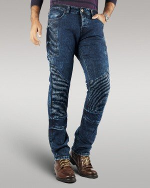 Savage Rider - Men's Motorbike Jeans (Blue)