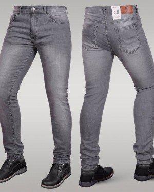 Immense - Men's Super Skinny Stretch Jeans (Grey)