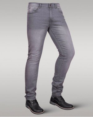 Immense - Men's Super Skinny Stretch Jeans (Grey)