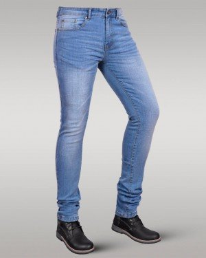 Immense - Men's Super Skinny Stretch Jeans (Iced Blue)
