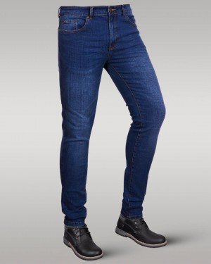 Immense - Men's Super Skinny Stretch Jeans (Midnight Blue)
