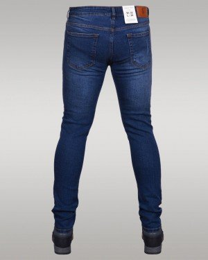 Immense - Men's Super Skinny Ripped Jeans (Midnight Blue)